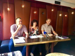 Régis Metzger, Francette Popineau et Arnaud Malaisé, co-secrétaires généraux du SNUIPP / 28 août 2017