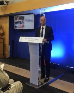 Jean-Michel Blanquer, lors de sa première conférence de rentrée, le 29 août 2017.