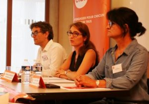 Alexis Torchet, Catherine Nave-Bekhti et Annie Catelas, du Sgen-CFDT