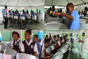 """""""Pan in the classroom"""" : des ateliers musicaux autour de l'apprentissage du steel-drum, organisés dans les écoles de Trinidad-et-Tobago / Pan On The Net"""