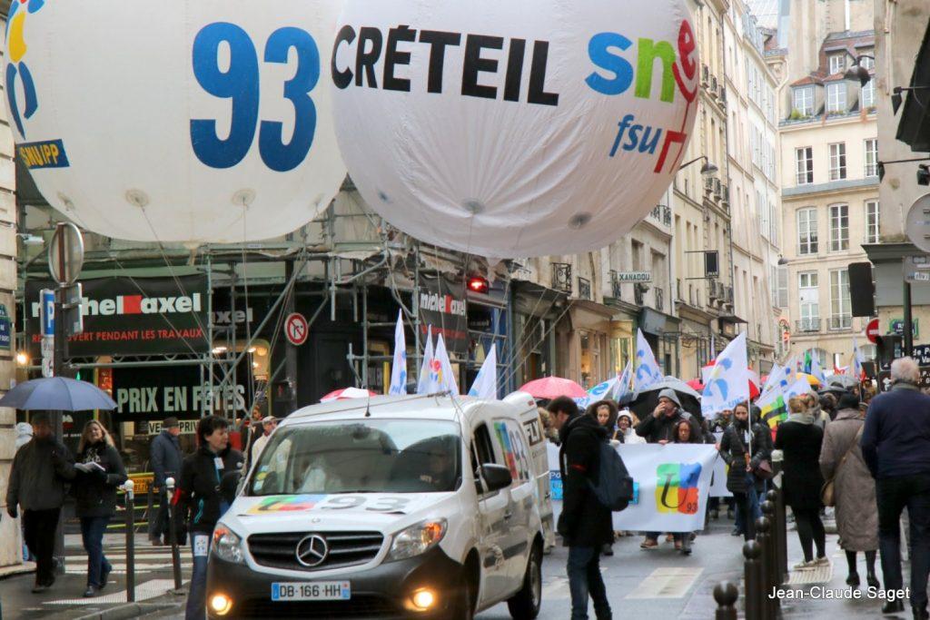 Manifestation du 14 décembre, enseignants 93/ Crédit : Jean-Claude Saget