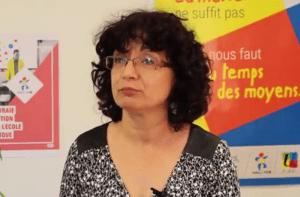 Francette Popineau, secrétaire générale du Snuipp FSU