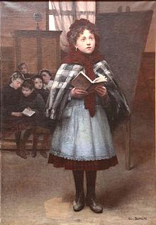 Auguste Joseph Truphème A l'école 1892
