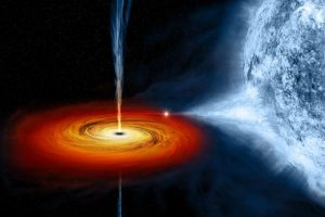 Vision d'artiste du trou noir Cygnus X-1/ NASA/CXC/M.Weiss