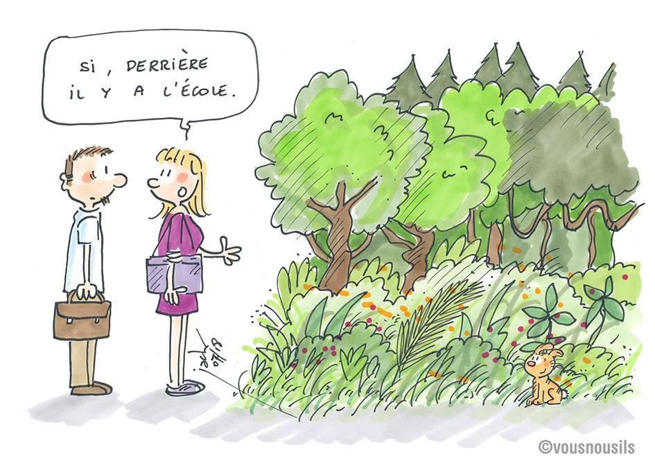 Paris : des forêts dans les cours de récré ?