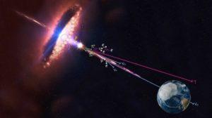Un blazar émettant des neutrinos et des rayons gamma / IceCube /NASA