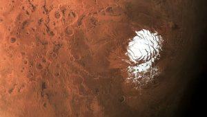 L'eau liquide découverte se trouve sous la glace du pôle sud de Mars / ESA/DLR/FU Berlin/CC BY-SA