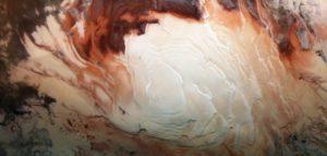 Le pôle sud de Mars, photographié par Mars Express / ESA/DLR/FU Berlin / Bill Dunford