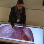 A Caen, une table tactile géante pour réviser l'anatomie