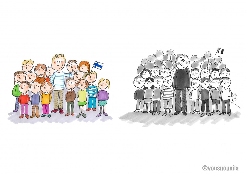 Prof finlandais / prof français : le grand écart !