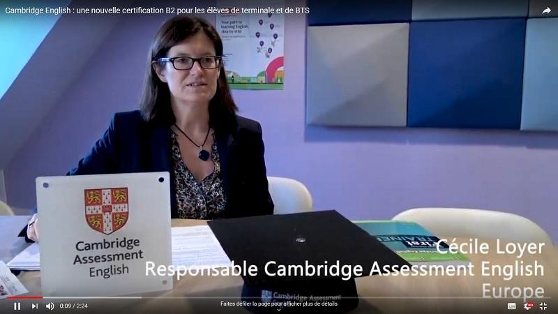 Cambridge English : une nouvelle certification B2 pour les élèves de terminale et de BTS
