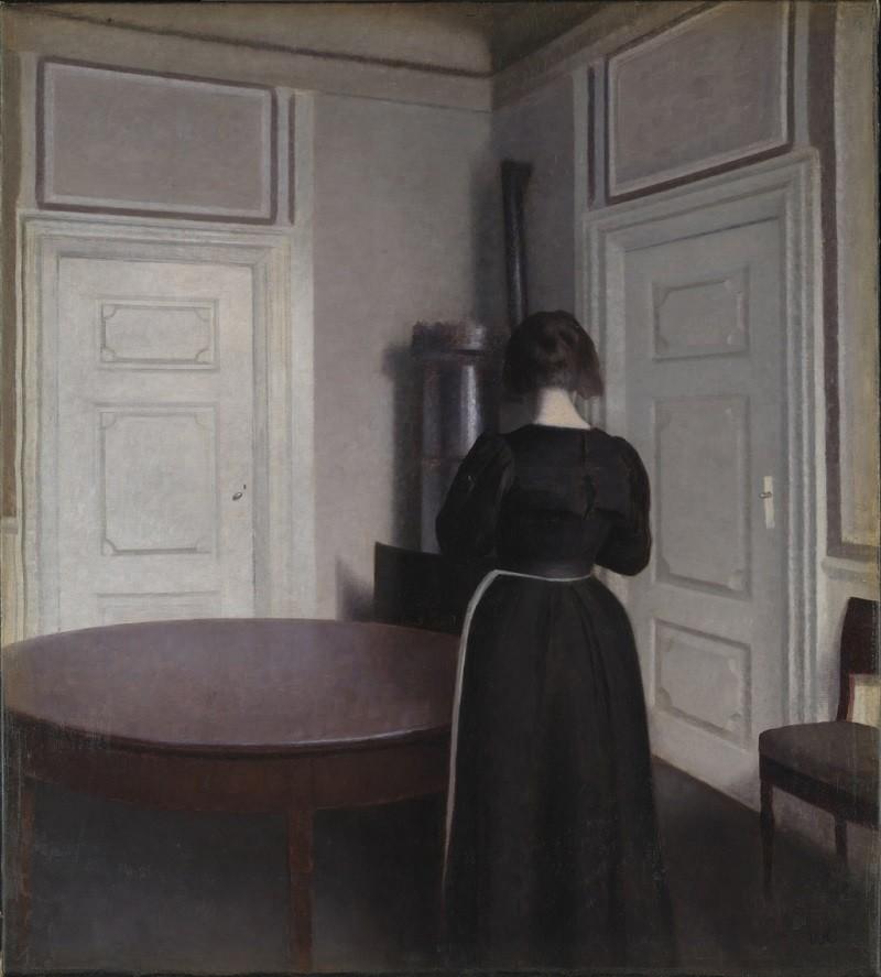 Hammershøi, le maître de la peinture danoise, exposé à Paris