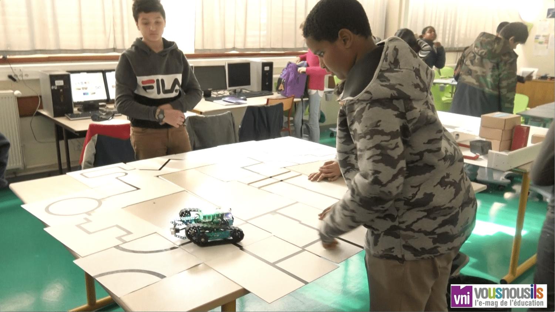 En collège REP, les 6e et les 5e sont des as de la programmation et de la robotique