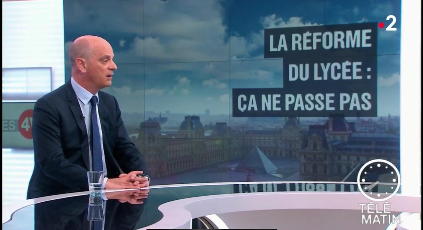 Réforme du lycée : Jean-Michel Blanquer répond à la colère des enseignants