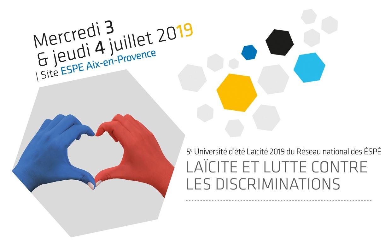 Université d'été Laïcitédu réseau des ESPE : les 3 et 4 juillet à Aix-en-Provence