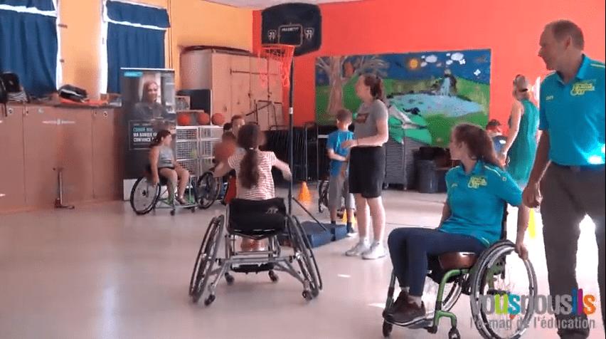 Une journée sport et handicap, dans une école labellisée Génération 2024