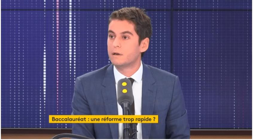 Réforme du bac: Gabriel Attal souhaite «lutter contre le bachotage»