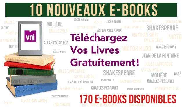 10 nouveaux E-Books à lire et à télécharger gratuitement