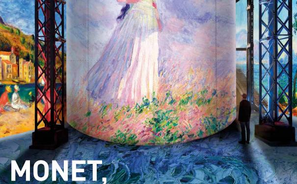 Exposition : «Monet, Renoir…Chagall, Voyages en Méditerranée» à l'Atelier des Lumières