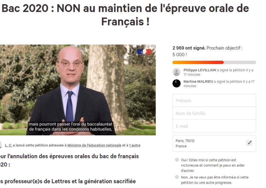 Des enseignants demandent l'annulation du bac de français