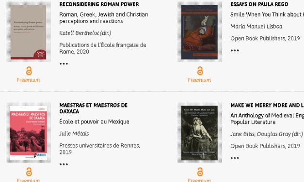 OpenEdition Books : une plateforme pour consulter des livres gratuitement