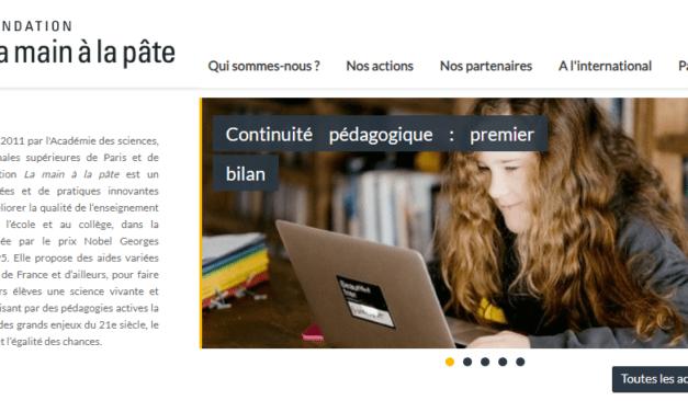 Ecole à distance : 76 ressources pédagogiques proposées par la Fondation La main à la pâte