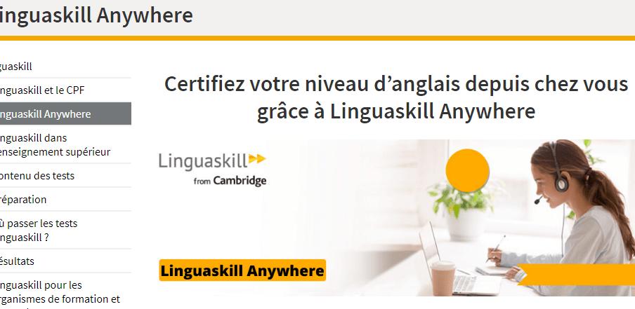 Linguaskill Anywhere : un test pour déterminer son niveau d'anglais depuis chez soi !