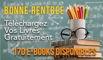 Bonne rentrée 170 e-books à télécharger gratuitment livres pdf