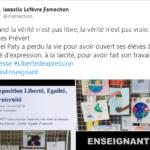 Assassinat de Samuel Paty : nombreux hommages à l'enseignant sur les réseaux sociaux