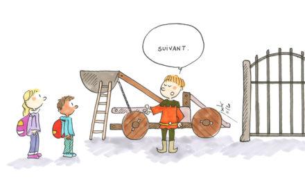 Inédit : enfant catapulté à l'école