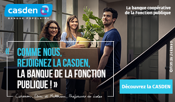 Comme nous, rejoignez la Casden, la banque de la fonction publique. Découvrez la CASDEN