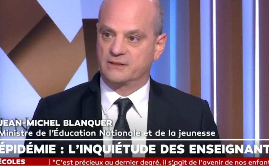 Covid-19 : «la France est l'un des pays qui a connu le plus de jours d'école en 2020», se félicite Blanquer