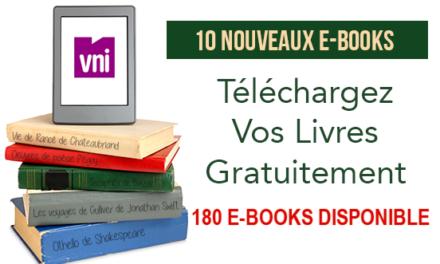 Des nouveaux E-books à télécharger gratuitement