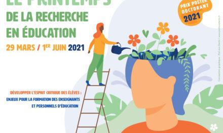 Printemps de la recherche en éducation 2021 : un cycle de conférences gratuites en ligne