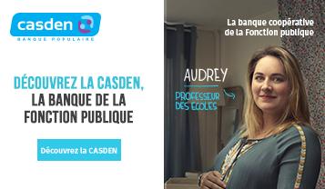 Comme nous, rejoignez la Casden, la banque de la fonction publique. Découvrez la CASDEN