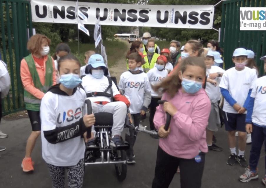 JOP 2021 : des élèves se relaient sur 23 km aux côtés de leur camarade en situation de handicap