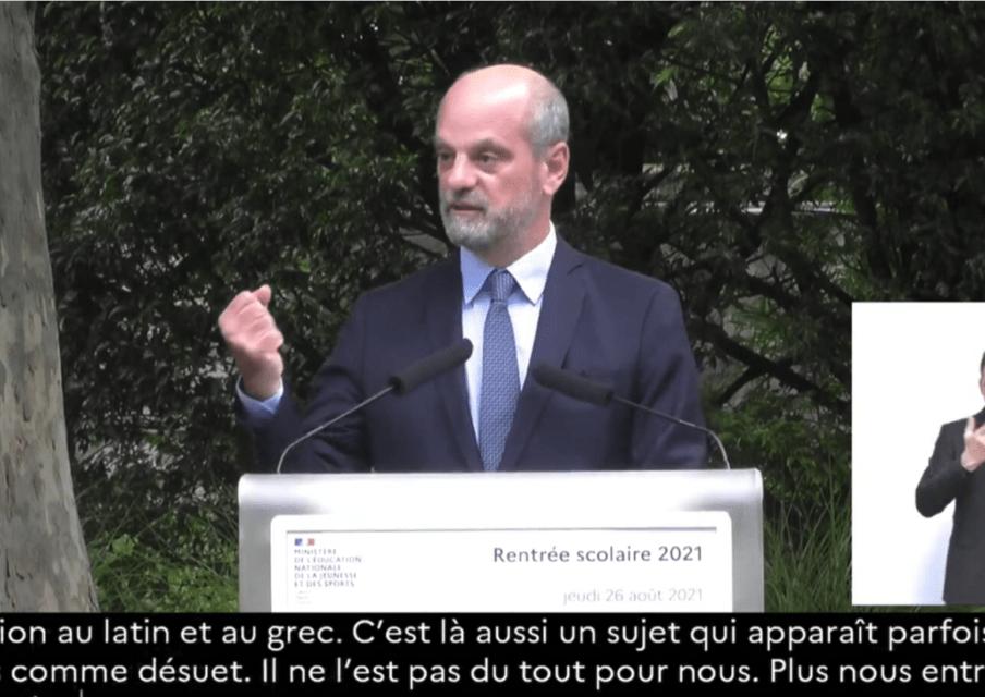 Conférence de J-M. Blanquer : «Nous avons fait notre maximum»